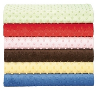 Add Minky Dot fabric to your Blanket
