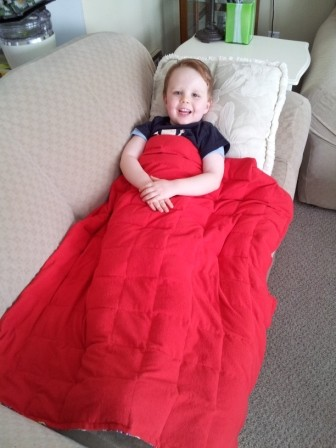33'' x 40'' Weighted Blanket in Red flannel