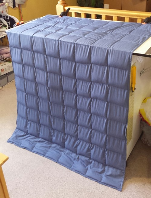 40x60 Weighted Blanket in Summer Cotton Blue